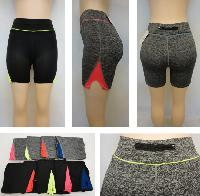 Ladies Active Fitness Shorts [Zippered Pocket]